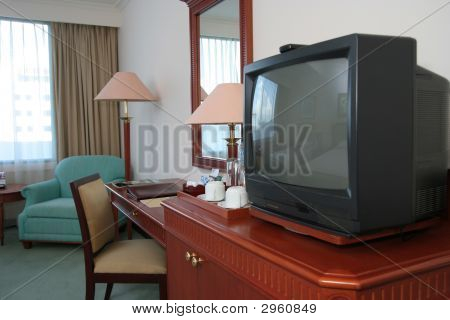 Crt Television In The Hotel Room