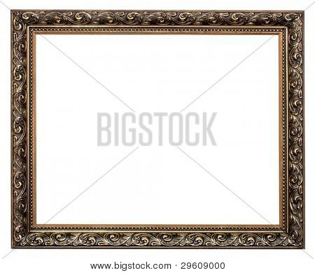 Gold antik Frame isolated on white background