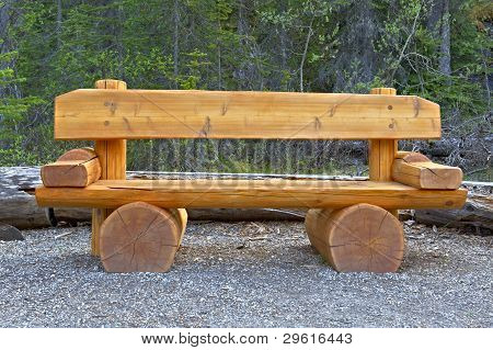 Cute Bench In Yoho National Park, Canada.