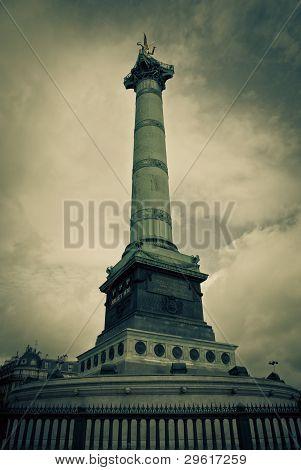 Place De La Bastille, In Paris