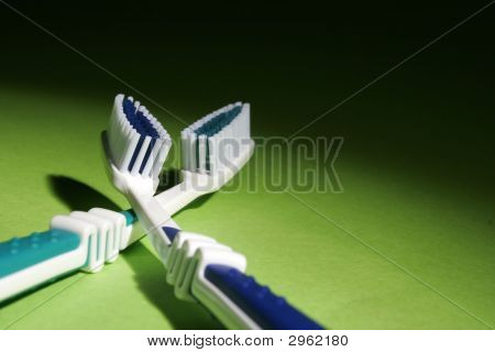 Blue Toothbrushes
