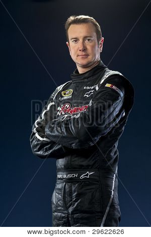 Spartanburg, SC - January 17, 2012:  NASCAR Champion, Kurt Busch, at the Phoenix Racing Complex in Spartanburg, SC on January 17, 2012.
