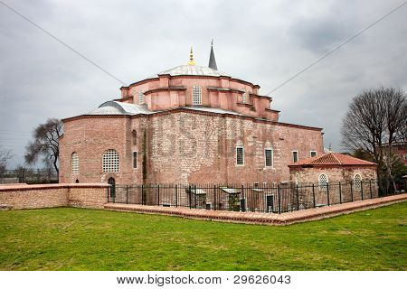 Little Hagia Sophia in Istanbul, Turkey. Formerly it was the Eastern Orthodox Church, later converted into a mosque during the Ottoman Empire. This Byzantine building was a model for the Hagia Sophia