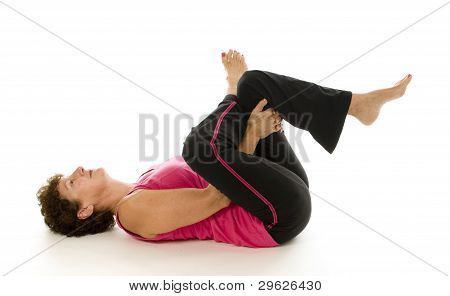 Senior Woman exercise yoga pilates stretch