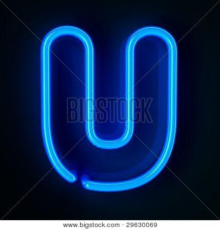 Neon Sign Letter U