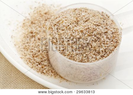 Scoop Of Psyllium Seed Husks