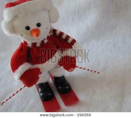 Snowman Skiier