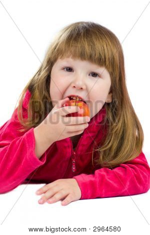 Kid Eating Appl