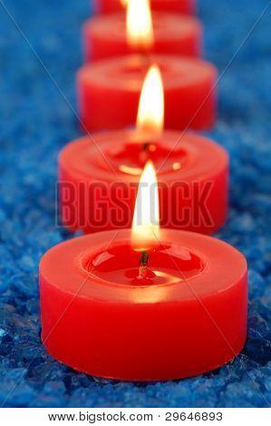 Candle On Spa Salt