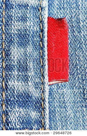 Blue jeans con primeros planos de la red label