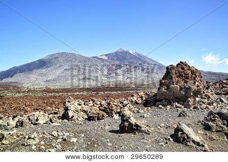 Clinker near the Teide volcano. Tenerife, Canary Islands