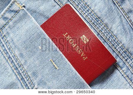 Red biometric passport