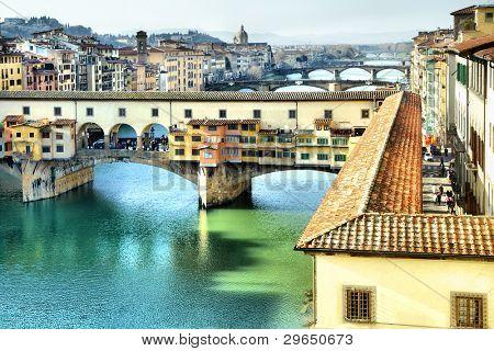 Bridge Ponte Vecchio in Florence, Italy