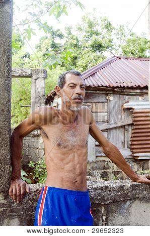 Native Nicaraguan Man Portrait Corn Island Nicaragua