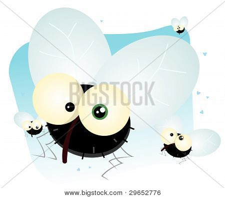 Cartoon Housefly