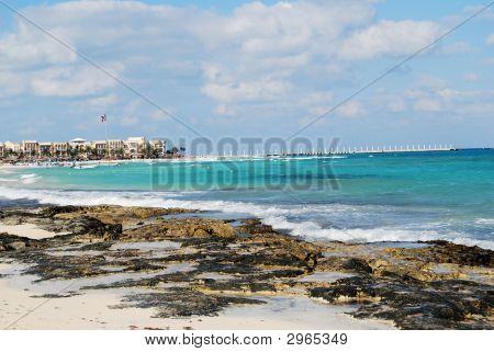 Coastline In Playa Del Carmen, Mexico