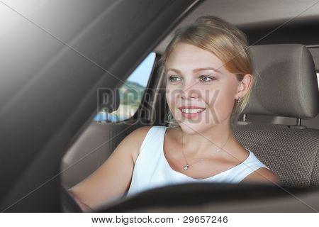 in car