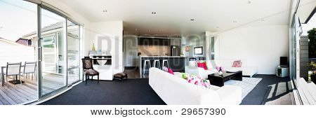 Panoramic Photo of a modern interior design home
