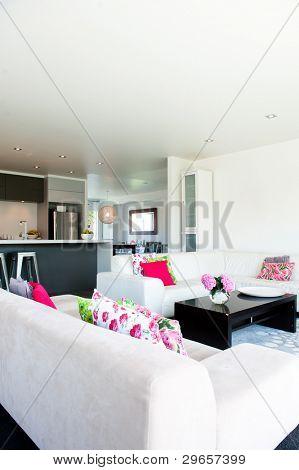 Foto von einer modernen Innenarchitektur zuhause