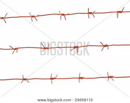 Red Darbed Wire