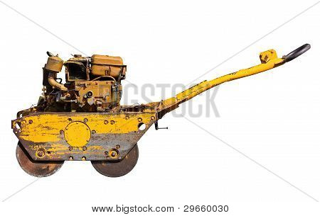 Old Mini Road Roller For Laying Asphalt