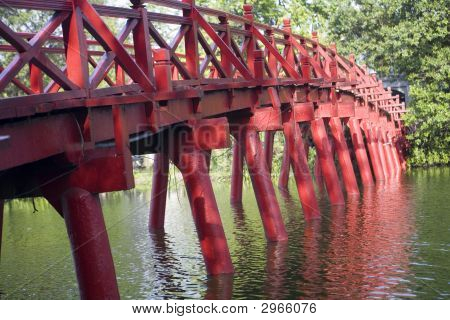 The-Huc-Bridge, Hanoi, Laos