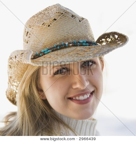 Girl With Cowboy Hat.