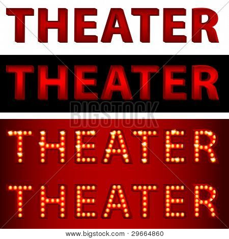 An image of a theatrical lights theater text.