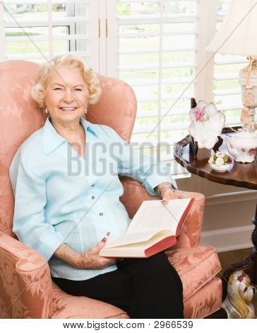 Mature Woman Reading.