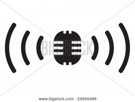 Vector broadcasting symbol.
