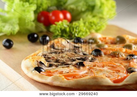 Fresh and hot pizza