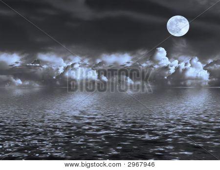 Moon Seascape