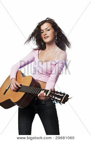 Rock Chick Playing Guitar