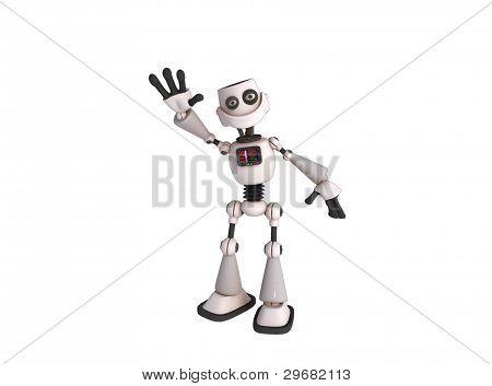 A Robot Waving It's Hand
