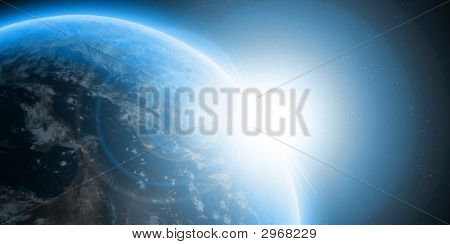A Blue Planet Earth