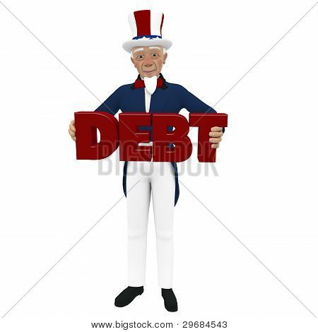 Uncle Sam - Carrying Debt