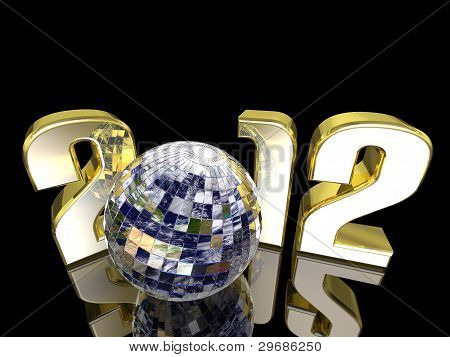 2012 New Year Disco Earth Ball