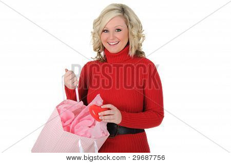 Young Woman Surprised With Gift.
