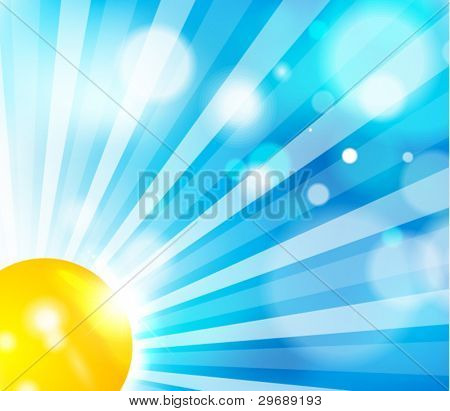 Vector clear sun and sky background