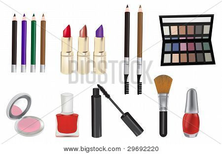 Make up and cosmetics vector illustration