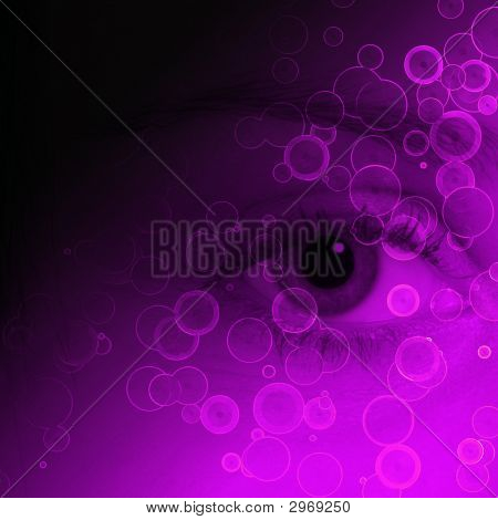 Purple Eye Abstract