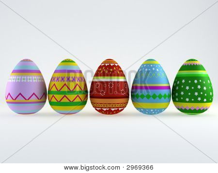 Easter Eggs Chicken Background