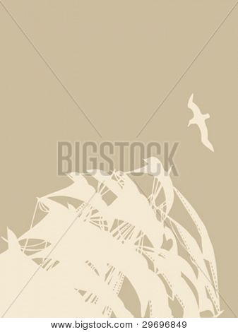 sailfish silhouette on brown background