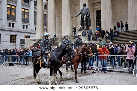 Police In Wall Street