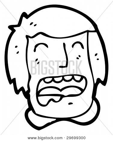 drooling man cartoon (raster version)