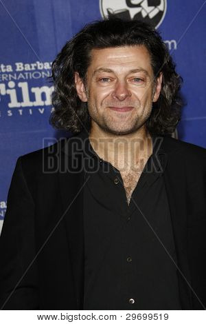SANTA BARBARA, CA - FEB 3: Andy Serkis at the 27th annual Santa Barbara Film Festival Virtuosos Award Ceremony at the Arlington Theater on February 3, 2012 in Santa Barbara, California