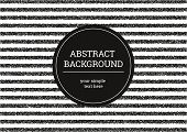 Striped Grunge Background. Black And White Minimalistic Modern Background Of Small Dots. Abstract Ve poster