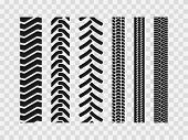 Heavy Machinery Tires Track Patterns, Building Of Agricultural Vehicles Tires Footprints,  Industria poster