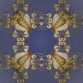 Classic Style. Graceful, Delicate Ornamentation In The Rococo Style. Seamless In Baroque Style. Vect poster