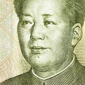Portrait of the chairman Mao fron one yuan banknote